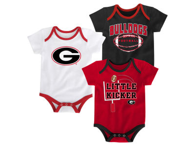 Georgia Bulldogs Outerstuff NCAA Newborn 3 Points 3-Piece Creeper Set