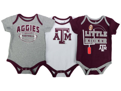 Texas A&M Aggies Outerstuff NCAA Newborn 3 Points 3-Piece Creeper Set