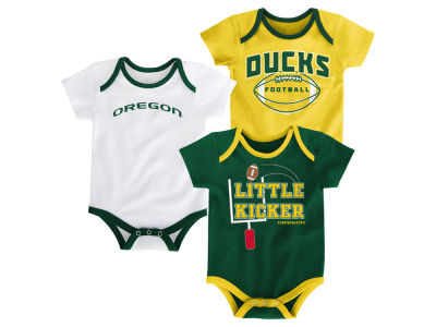 Oregon Ducks Outerstuff NCAA Newborn 3 Points 3-Piece Creeper Set