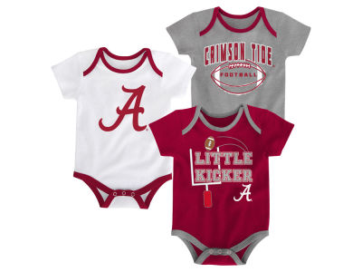 Alabama Crimson Tide Outerstuff NCAA Newborn 3 Points 3-Piece Creeper Set