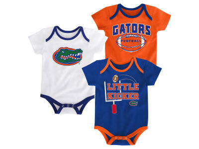 Florida Gators Outerstuff NCAA Newborn 3 Points 3-Piece Creeper Set