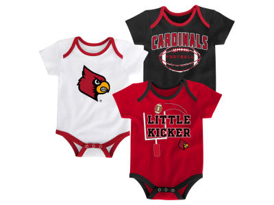 Louisville Cardinals Outerstuff NCAA Newborn 3 Points 3-Piece Creeper Set