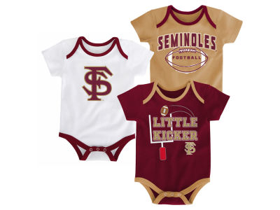 Florida State Seminoles Outerstuff NCAA Newborn 3 Points 3-Piece Creeper Set