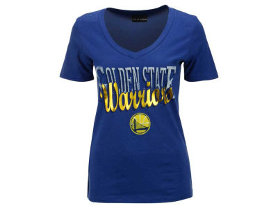 Golden State Warriors 5th & Ocean NBA Women's Foil Jam V Neck T-Shirt