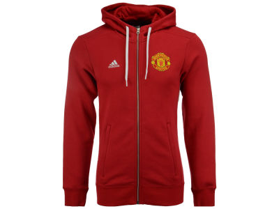 Manchester United adidas Men's Club Team 3 Zip Hoodie