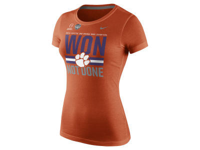 Clemson Tigers Nike NCAA Womens 2015-2016 Orange Bowl Champ LR T-Shirt
