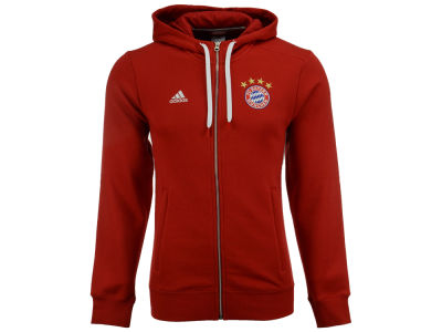 Bayern Munich adidas Men's Club Team 3 Zip Hoodie