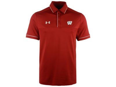 Wisconsin Badgers Under Armour NCAA Men's Podium Polo Shirt