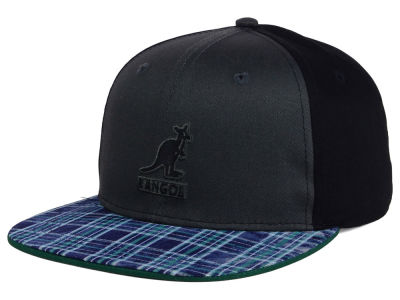 Kangol Distressed Plaid Links Strapback Hat