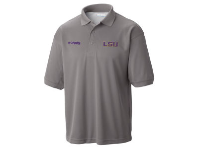 LSU Tigers Columbia NCAA Low Drag Polo