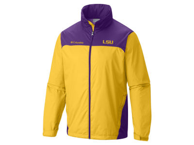 LSU Tigers Columbia NCAA Men's Glennaker Lake Rain Jacket