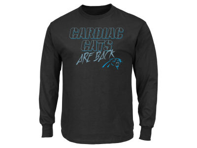 Carolina Panthers NFL Men's Cardiac Cats Long Sleeve T-Shirt