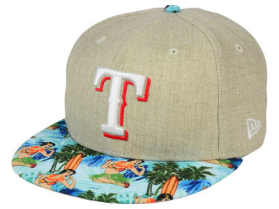 Texas Rangers New Era MLB Vacation Vize Snapback Cap