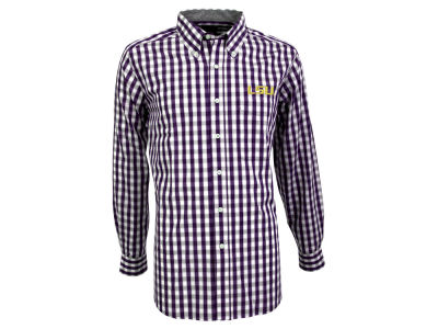 LSU Tigers Antigua NCAA Men's Alliance Button Down Shirt