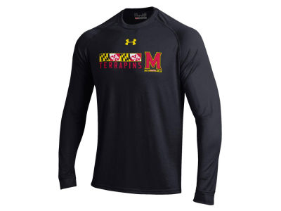 Maryland Terrapins NCAA Men's Tech Football Long Sleeve T-Shirt