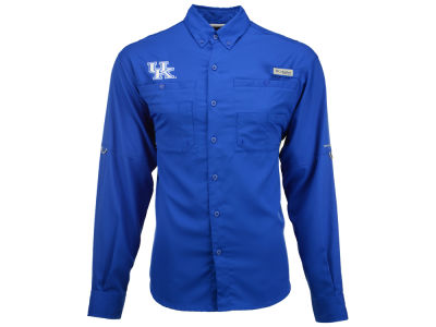 Kentucky Wildcats Columbia NCAA Men's Tamiami Long Sleeve Shirt