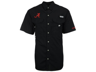 Alabama Crimson Tide Columbia NCAA Mens Bonehead Short Sleeve Shirt