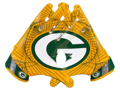 Green Bay Packers Nike Vapor Jet 4.0 Gloves