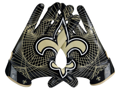 New Orleans Saints Nike Vapor Jet 4.0 Gloves