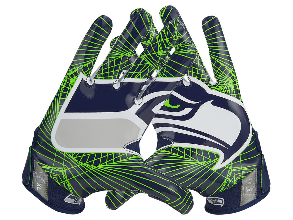 Seattle Seahawks Nike Vapor Jet 4.0 Gloves  94f9598613
