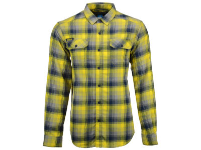 Michigan Wolverines Columbia NCAA Men's Flare Gun Long Sleeve Flannel Button Up Shirt