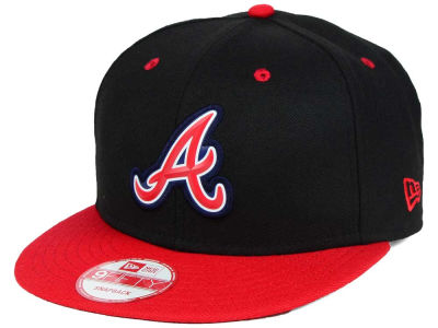 Atlanta Braves New Era MLB Beveled Rubber Logo 9FIFTY Snapback Cap