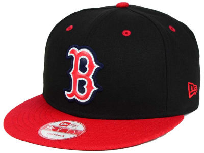 Boston Red Sox New Era MLB Beveled Rubber Logo 9FIFTY Snapback Cap