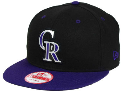 Colorado Rockies New Era MLB Beveled Rubber Logo 9FIFTY Snapback Cap