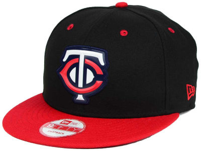 Minnesota Twins New Era MLB Beveled Rubber Logo 9FIFTY Snapback Cap
