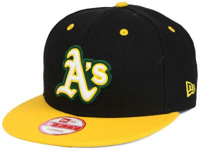 Oakland Athletics New Era MLB Beveled Rubber Logo 9FIFTY Snapback Cap