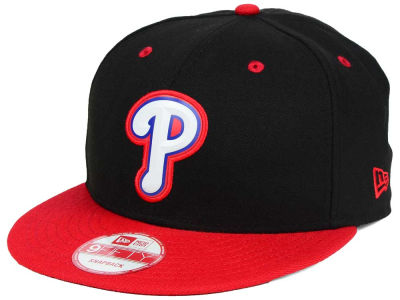 Philadelphia Phillies New Era MLB Beveled Rubber Logo 9FIFTY Snapback Cap