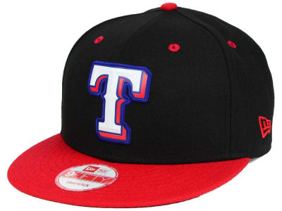 Texas Rangers New Era MLB Beveled Rubber Logo 9FIFTY Snapback Cap