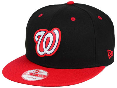 Washington Nationals New Era MLB Beveled Rubber Logo 9FIFTY Snapback Cap