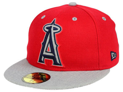 Los Angeles Angels New Era MLB Full Heather XL Logo 59FIFTY Cap
