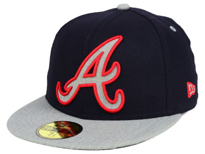 Atlanta Braves New Era MLB Full Heather XL Logo 59FIFTY Cap