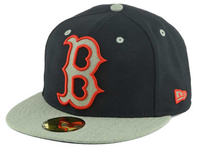 Boston Red Sox New Era MLB Full Heather XL Logo 59FIFTY Cap