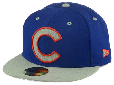 Chicago Cubs New Era MLB Full Heather XL Logo 59FIFTY Cap
