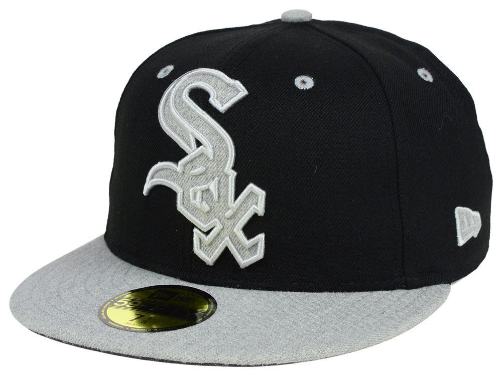 sports shoes 50fed d6093 ... coupon code for chicago white sox new era mlb full heather xl logo 59fifty  cap 3898a