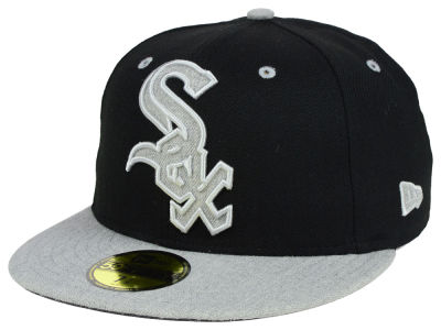 Chicago White Sox New Era MLB Full Heather XL Logo 59FIFTY Cap