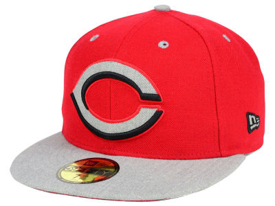 Cincinnati Reds New Era MLB Full Heather XL Logo 59FIFTY Cap