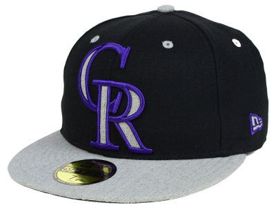 Colorado Rockies New Era MLB Full Heather XL Logo 59FIFTY Cap