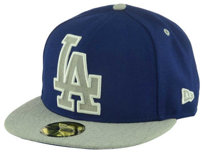 Los Angeles Dodgers New Era MLB Full Heather XL Logo 59FIFTY Cap