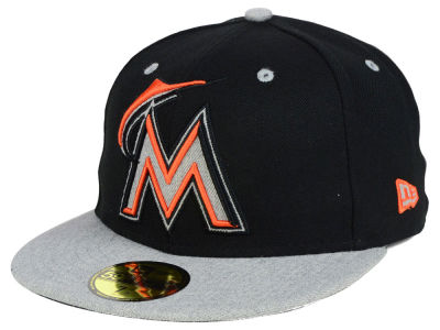 Miami Marlins New Era MLB Full Heather XL Logo 59FIFTY Cap