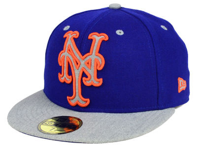New York Mets New Era MLB Full Heather XL Logo 59FIFTY Cap