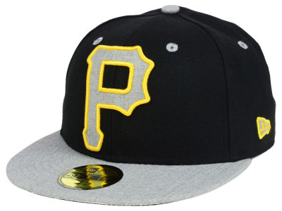 Pittsburgh Pirates New Era MLB Full Heather XL Logo 59FIFTY Cap