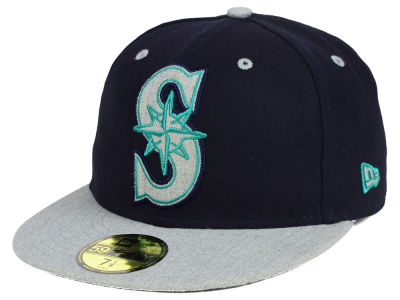 Seattle Mariners New Era MLB Full Heather XL Logo 59FIFTY Cap