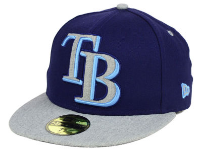 Tampa Bay Rays New Era MLB Full Heather XL Logo 59FIFTY Cap