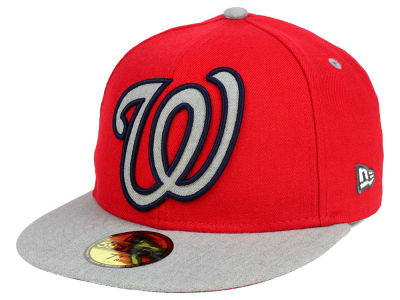 Washington Nationals New Era MLB Full Heather XL Logo 59FIFTY Cap