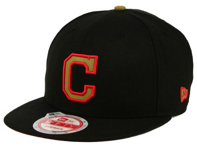 Cleveland Indians New Era MLB Goldie Logo 9FIFTY Snapback Cap