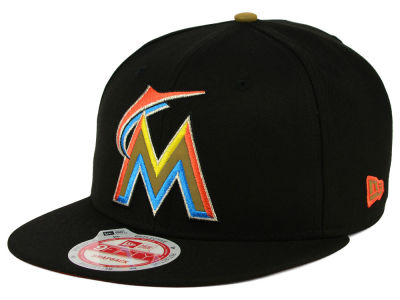 Miami Marlins New Era MLB Goldie Logo 9FIFTY Snapback Cap